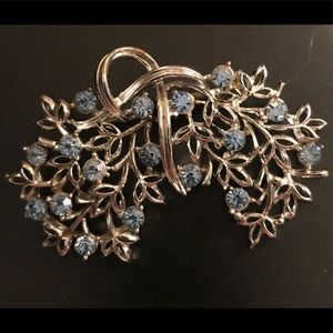 Silver tone Floral Blossom Brooch 2/$25